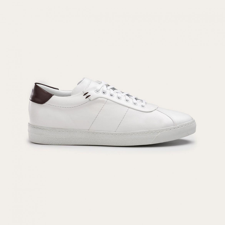 Greve Sneaker Umbria White Nappa/Brown  6275.01