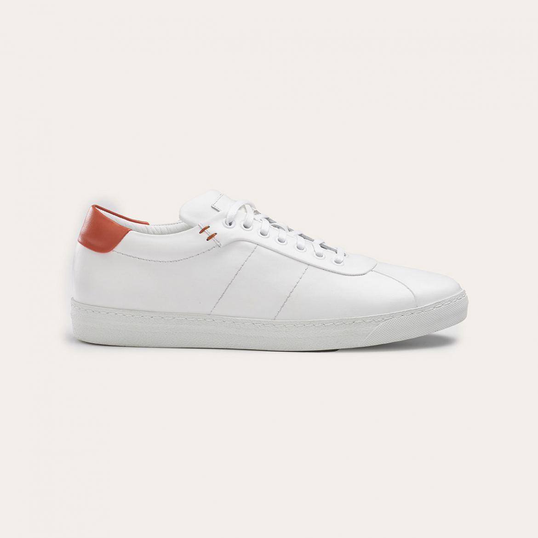 Greve Sneaker Umbria White Napa/Orange  6275.02