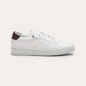 Greve Sneaker Umbria White Nappa/Brown